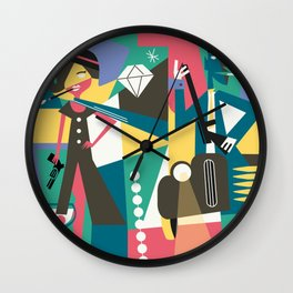 Gangster Couple Wall Clock
