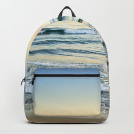 Serenity sea. Vintage. Square format Backpack