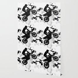 High Flying Stuntmen - Motocross Riders Wallpaper