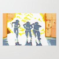 heroes Area & Throw Rugs featuring Heroes by SquidInkDesigns