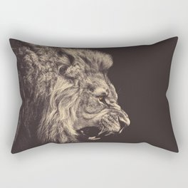 angry lion Rectangular Pillow