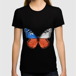 Butterfly Flag Of Chile T-shirt