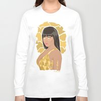 nicki Long Sleeve T-shirts featuring Nicki, What's Good? by KnoblArt