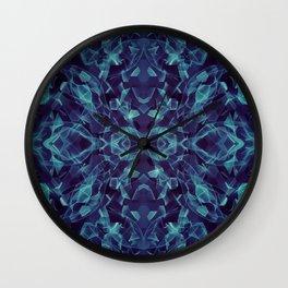 Wavy Lines Through an Alien Bugs Eyes Wall Clock