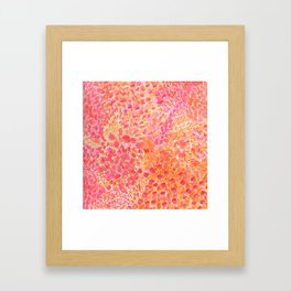 Warmth Watercolor Framed Art Print