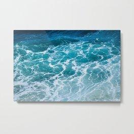 Ocean Waves in Hawaii Metal Print
