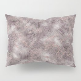 Gray Marble Pattern with Rose Gold Pillow Sham