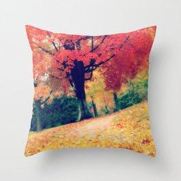 Fall stroll  Throw Pillow