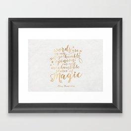 Dumbledore's Magic Words Framed Art Print