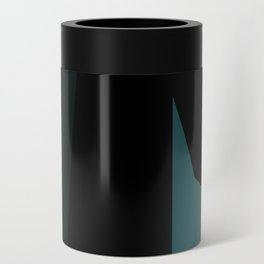 teal and black abstract Can Cooler