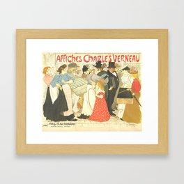 "Théophile Steinlen ""The Street (La rue), poster for the printer Charles Verneau"" Framed Art Print"