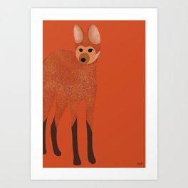 Lobo Guará Art Print