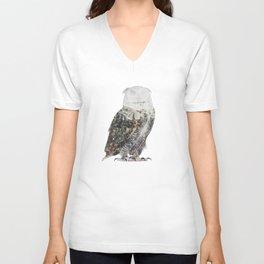 Arctic Owl Unisex V-Neck