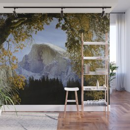 Half Dome Through The Trees / Yosemite National Park 12/3/18 Wall Mural