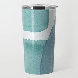 Blue Vibrance Abstract Painting Travel Mug