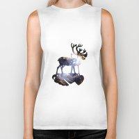 reindeer Biker Tanks featuring Reindeer by infloence