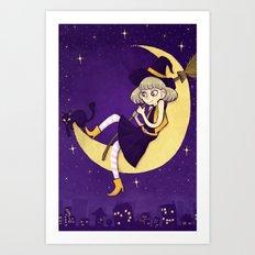 watching witch Art Print
