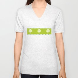 candy trees on green Unisex V-Neck