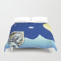 astronaut Duvet Covers featuring Astronaut   by Spirit Tooth