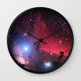 The Horsehead and Flame Neublae Wall Clock