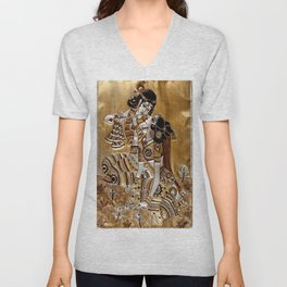 Indian God Radha Krishna Unisex V-Neck