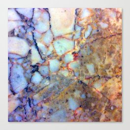 marble effect 007 (blue) Canvas Print