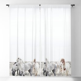 WILD AND FREE  1 - HORSES OF ICELAND Blackout Curtain