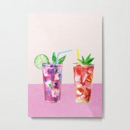 Summer Cocktails 8 Metal Print