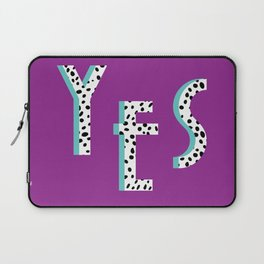 YES Poster | Purple Dalmatian Pattern Laptop Sleeve