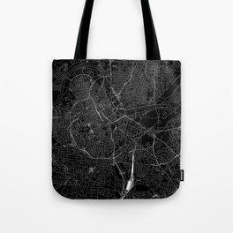 Nashville Black Map Tote Bag