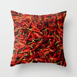 Chili in the Sun Throw Pillow