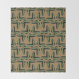 Rajah Brooke Birdwing Throw Blanket
