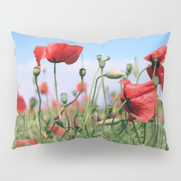 poppy flower no13 Pillow Sham