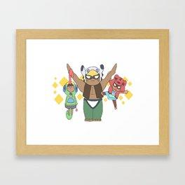 Leon, Nita and Bo cute design | Brawl Stars Framed Art Print