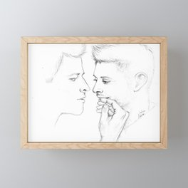 The whole world stops and stares for a while Framed Mini Art Print