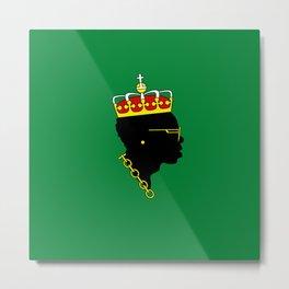 Big Maestro - Green Metal Print