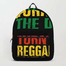 Funny Reggae Saying Backpack