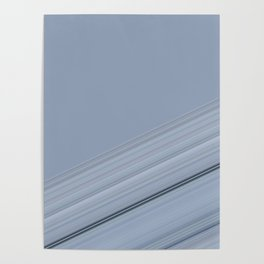 Soft Pastel Blues Stripe Design Poster