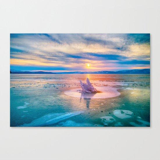 The Strange Ice Circle of Baikal Canvas Print