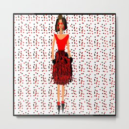 RED by Kimberly J Graphics Metal Print