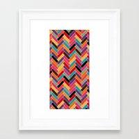 herringbone Framed Art Prints featuring herringbone by Sharon Turner