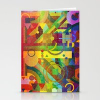 kandinsky Stationery Cards featuring Future Patterns. by Nick Nelson