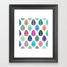 Watercolor Forest Pattern  Framed Art Print