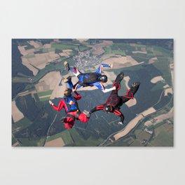 3way Formation Skydive Canvas Print