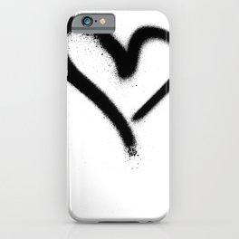 Spray Paint Heart Street Art iPhone Case