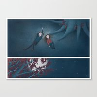constellations Canvas Prints featuring Constellations by Ramona Treffers