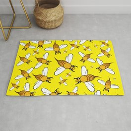 Bees on Yellow Rug