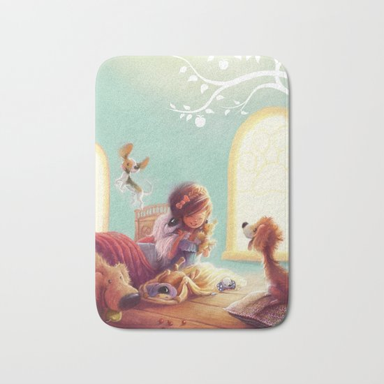 Snow White and the Seven Doggies Bath Mat