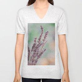 Lavender by the window Unisex V-Neck