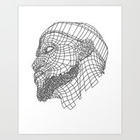 lebron Art Prints featuring Basketball King by NINE PROJECT